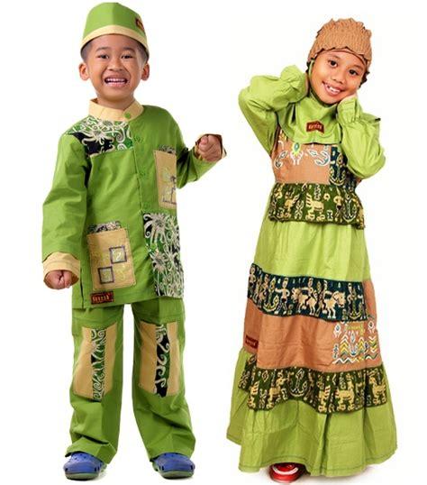 Baju Muslim Anak Hijau No 10 detail baju koko anak borneo hijau toko bunda
