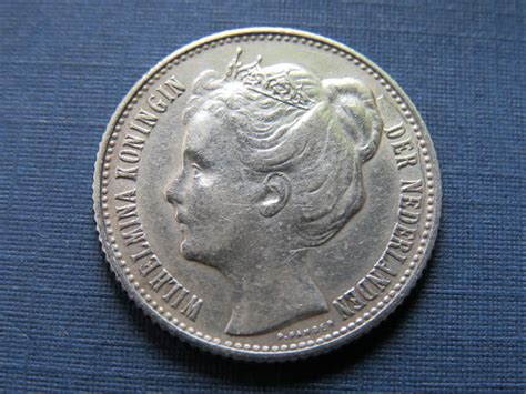 Coin Nederlands Silver 1909 the netherlands 189 guilder 1905 1909 wilhelmina silver
