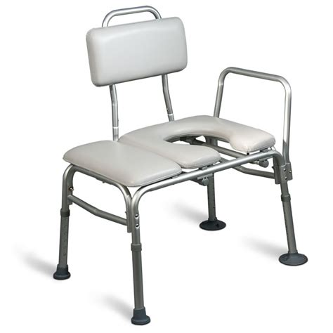 transfer bench with commode opening aquasense padded bathtub transfer bench with commode