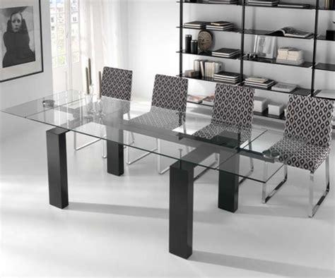 mesa comedor cristal extensible mesas de cristal extensibles de comedor