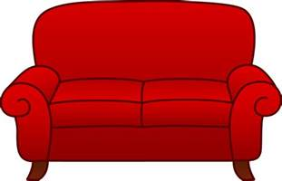 Small Livingroom red living room sofa free clip art clipartbarn