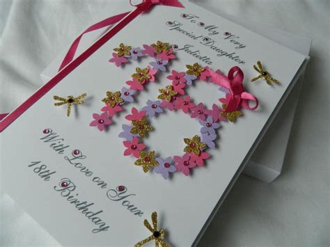 Handmade 18th Birthday Cards - handmade personalised birthday card 18th 20th any age