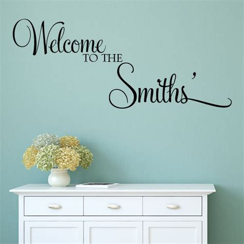 welcome wall stickers personalised welcome to the wall sticker decals