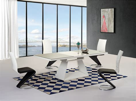 White High Gloss Dining Table 6 Chairs by Black White High Gloss Glass Extending Dining Table 6