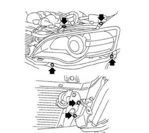 how to remove passenger headlight assembly acurazine how do you remove and install a 2006 subaru outback passenger headlight assembly housing