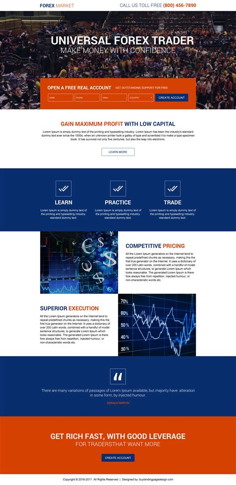 forex landing page template universal forex trading sign up resp lp 018 forex