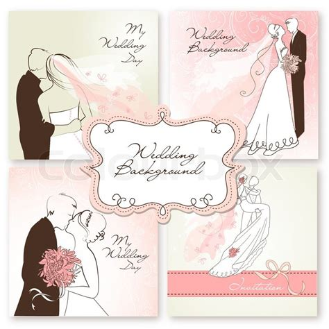 Wedding Invita by Set Of Beautiful Vector Wedding Backgrounds Easy To Edit