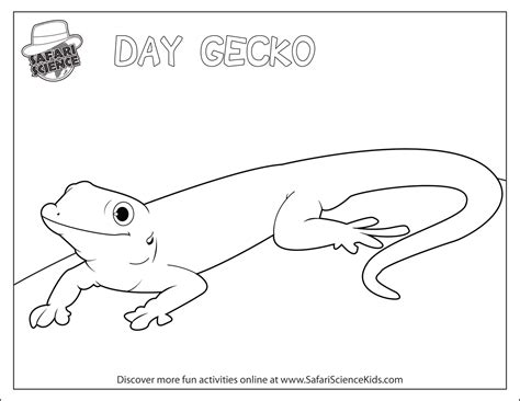 free coloring pages of geico gecko
