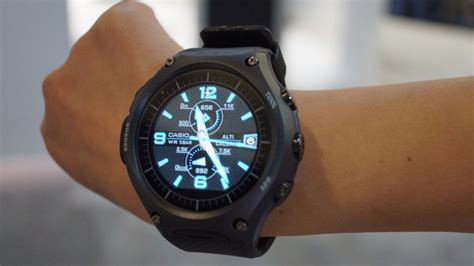 Casio Smartwatch Android casio wsd f10 outdoor smartwatch on review tech
