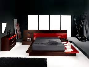 Red And Black Home Decor by Red Big Bed Idea With Modern Lighting Decor And