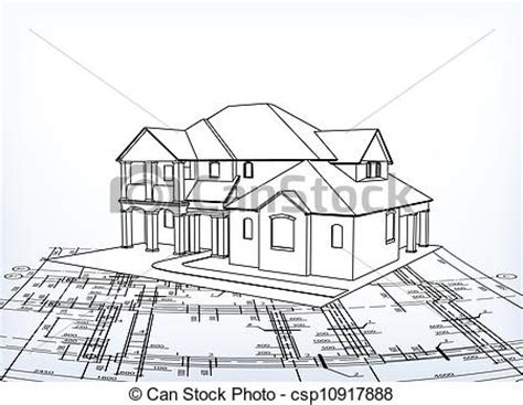 house vector technical draw 3d house technical draw