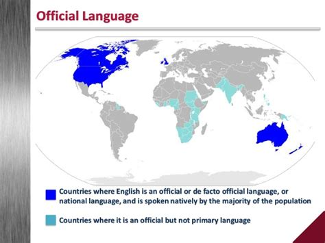 what countries as their official language the language