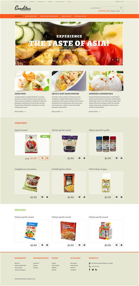 14 restaurant opencart templates themes free