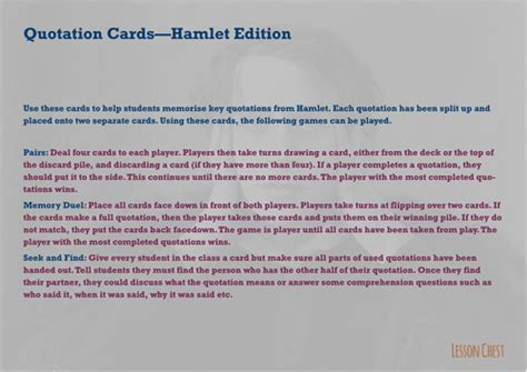 hamlet themes revision macbeth quotations revision by lessonchest uk teaching
