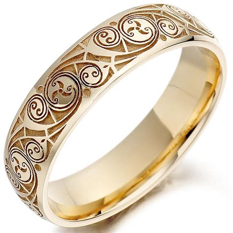 Eheringe Keltisch by Celtic Wedding Ring Mens Gold Celtic Spiral Triskel