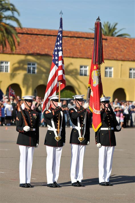 marine color guard marine corps color guard editorial image image 4538435