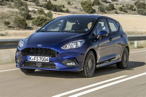 Superb How Wide Is A 2 Car Garage #6: 2018-Ford-Fiesta-ST-Line-Euro-Spec-front-three-quarter-in-motion-07-e1498764068516.jpg