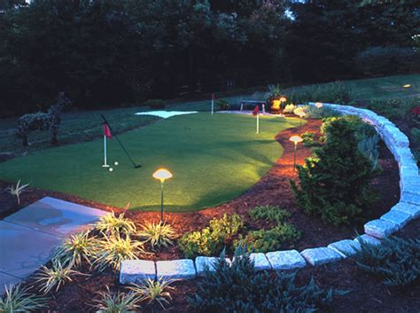 backyard putting green lighting specialty services synthetic putting greens mullan