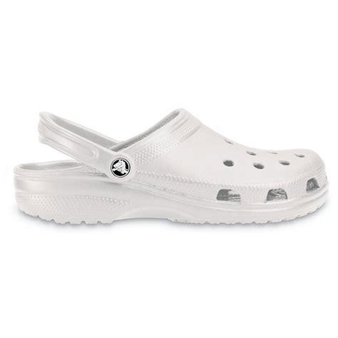 crocs classic shoe pearl white original crocs slip on