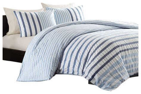 king size blue white navy stripe bed a bag seersucker