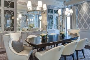 gray dining room with glass front china cabinets gray paint photos design ideas remodel and decor lonny
