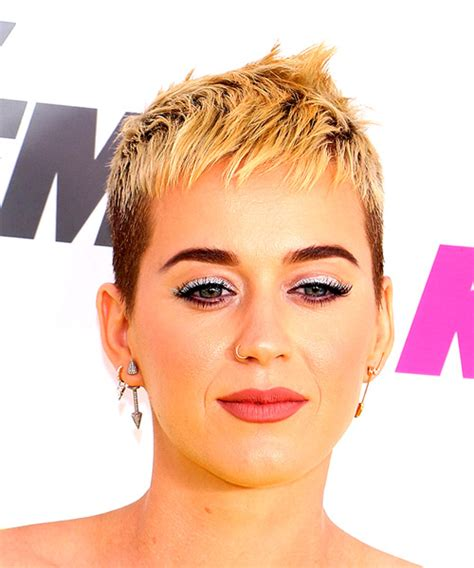 Katy Perry Short Straight Alternative Pixie Hairstyle with