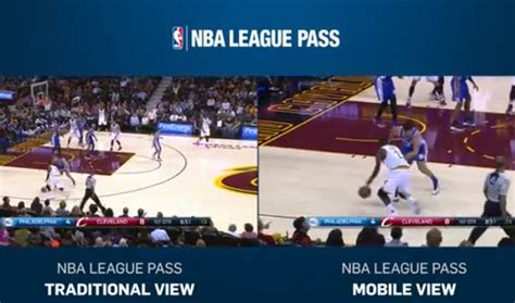 nba league pass mobile how nba league pass s new nba mobile view looks