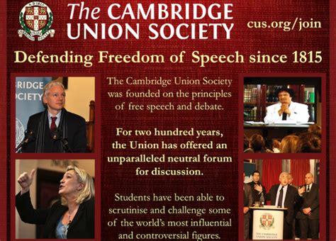free speech on cus join the cambridge union
