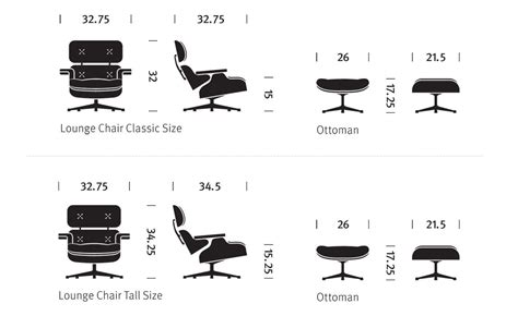 Eames Lounge Chair Measurements by Eames 174 Lounge Chair Ottoman Hivemodern