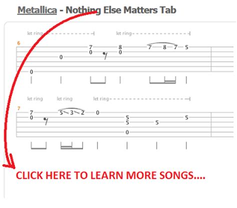 nothing else matters guitar pro guitar metallica one guitar tabs metallica one