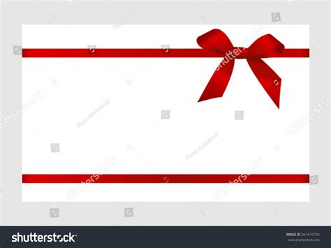 Gift Card Background - gift card red ribbon bow on stock vector 561676795 shutterstock