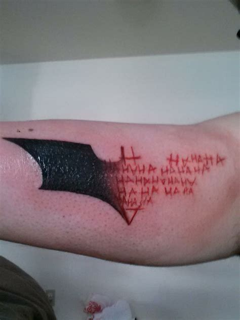 batman and joker tattoo 11 badass batman tattoos in honor of gotham s premiere