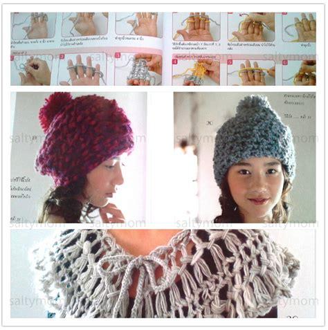 finger knitting ideas step by step finger knitting pattern book 183 saltymom