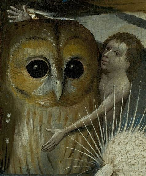 hieronymus bosch file bosch hieronymus the garden of earthly delights central panel detail owl with boy jpg