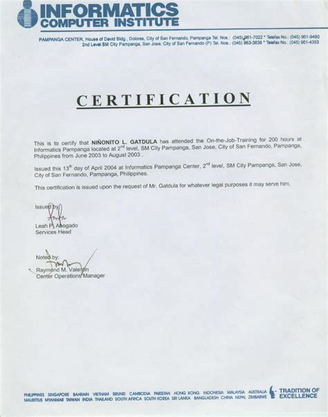 certification letter for trainee certification letter for trainee 28 images certificate