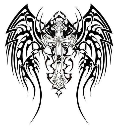 cross tribal tattoo designs cross images designs