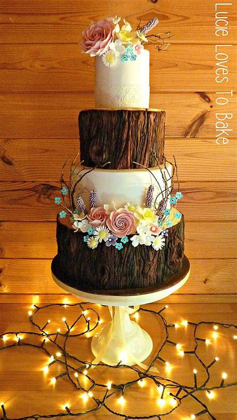 enchanted forest wedding cake cake  lucielovestobake