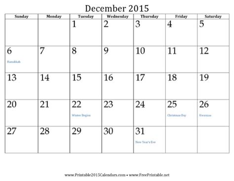 12 Month Calendar 2015 12 Month Calendar 2015 2 For Free Page 12