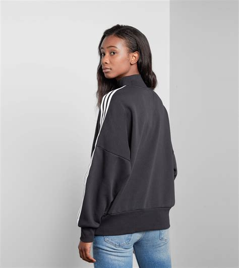 Turtleneck Stripe 3 adidas originals 3 stripes turtleneck sweatshirt in black lyst