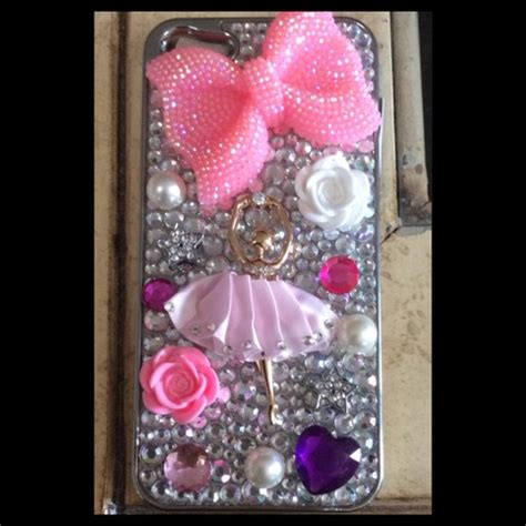 Ballet Rhinestone Cover For Iphone 5c Handmade Import to 2 0 limited quantities left 183 princess armor 183 store powered by storenvy