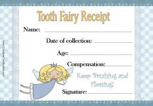 letter from the tooth template free tooth certificate