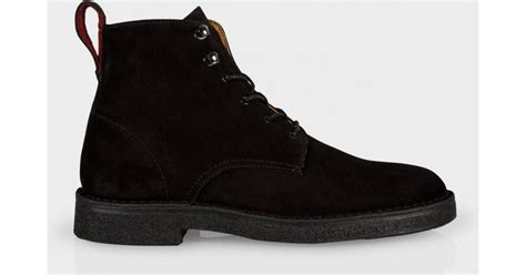 paul smith s black suede echo boots in black for