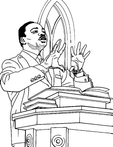 martin luther king jr coloring pages coloring home