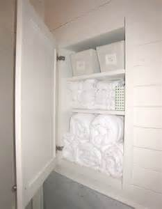 Recessed Bathroom Storage Linen Cabinet Ideas Cottage Bathroom Tracery Interiors