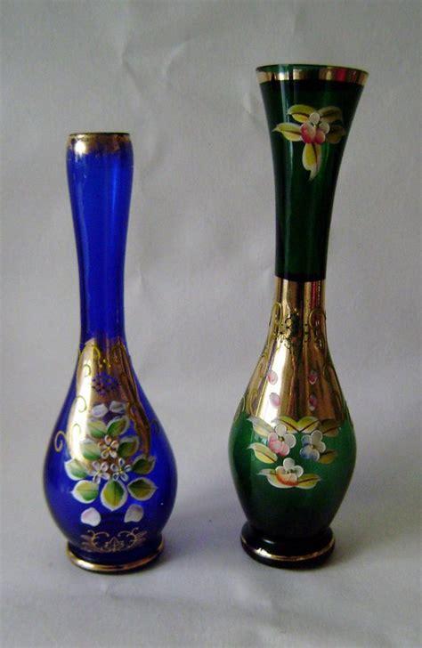 Glass Hyacinth Vases Italian Venetian Gt Murano Sommerso Vintage Art Glass Vase