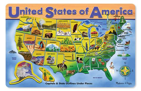united states map with capitals puzzle united states of america wooden puzzle on the farm