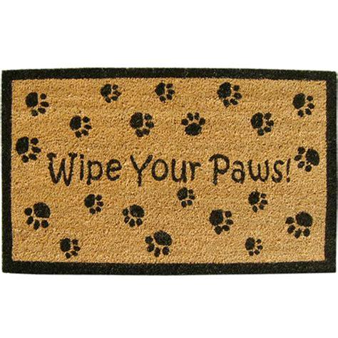Wipe Your Paws Doormat welcome mat wipe your paws in doormats