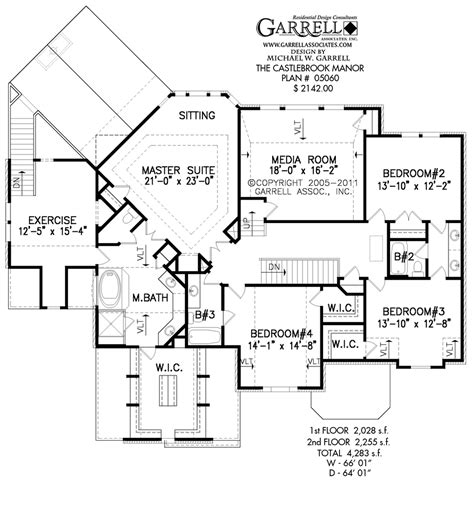 center kitchen house plans castlebrook manor house plan house plans by garrell associates inc