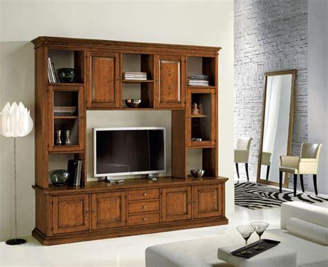 mobili libreria classica libreria classica in legno con vetrinette e vano porta tv