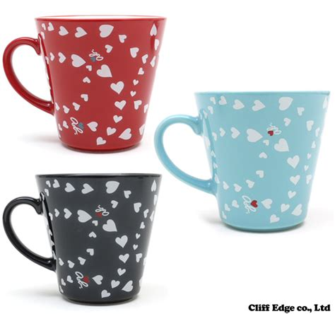 heart pattern mugs cliff edge rakuten global market agnes b voyage heart